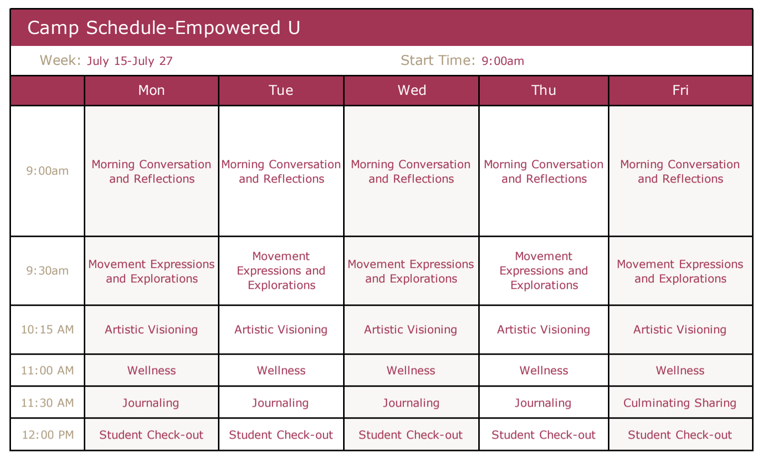 empowered u schedule